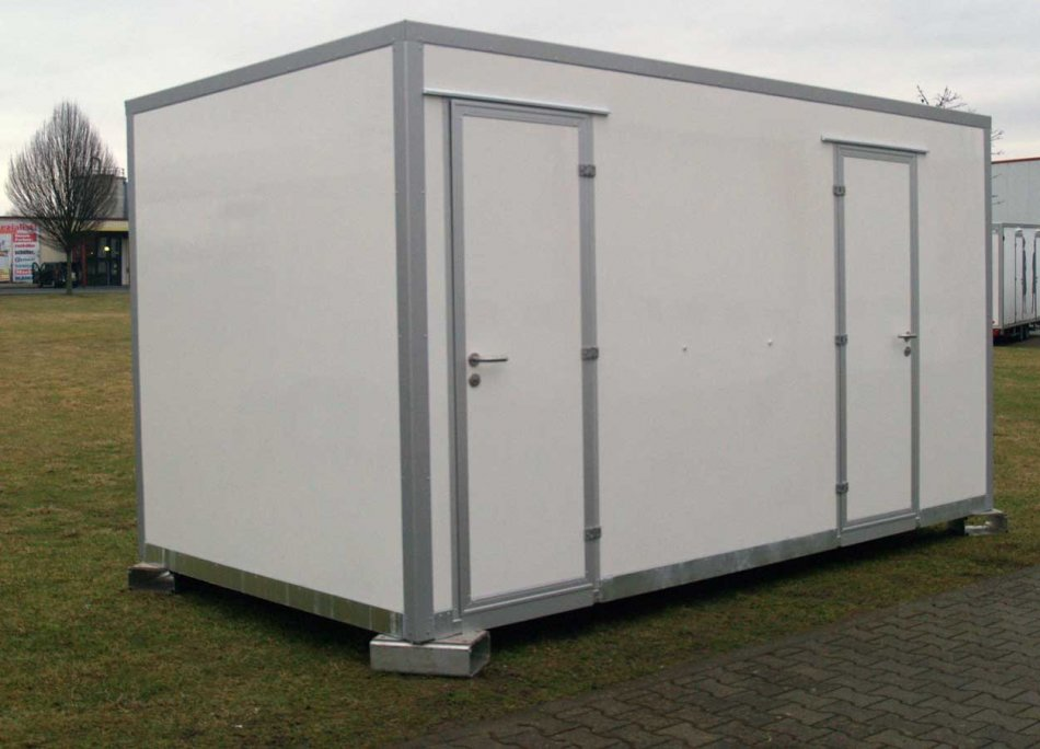 Flexibel aufstellbarer WC-Container
